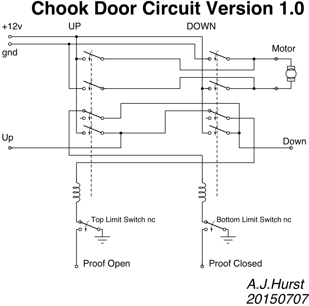 John Hurst Chicken Page Limit Switches Wiring Diagram As Well Switch What Are The Improvements I Have Done Away With Up Down Push Buttons Partly Because They Were A Nuisance To Implement And Got